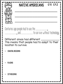 3rd Grade Social Studies Notebook: Culture & Human Systems