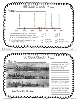3rd Grade Ohio Social Studies Review Activity Set (32 spiral quick checks!)