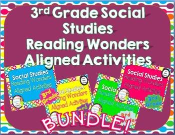 3rd Grade Social Studies Reading Wonders Aligned Activities- BUNDLE