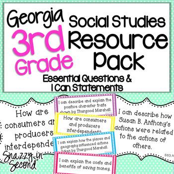 3rd Grade Social Studies Resource Pack - Georgia