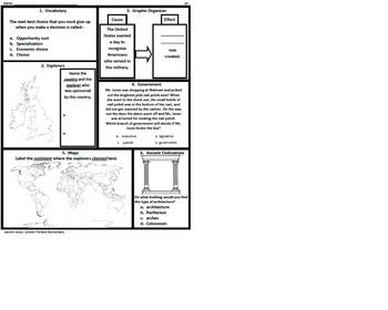 3rd Grade Social Studies SOL Spiral Review #10