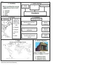 3rd Grade Social Studies SOL Spiral Review #22