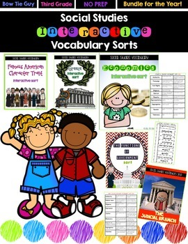 Social Studies Sorts BUNDLE! {Interactive Notebook} - Assessment Activities