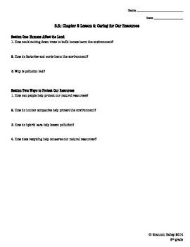3rd Grade Social Studies Study Guide The Environment