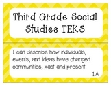 "3rd Grade Social Studies TEKS ""I Can"" Statement Posters"