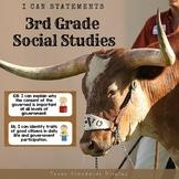 3rd Grade Social Studies TEKS I Can Statements