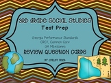 3rd Grade Social Studies Test Prep Review Question Cards CC, Georgia Milestones
