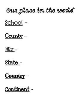 3rd Grade Social Studies Unit 1 BUNDLE