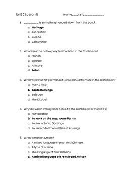 3rd Grade Social Studies Unit 2 Lesson 5 Quiz