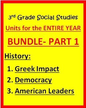 3rd Grade Social Studies - Units for Year PART 1