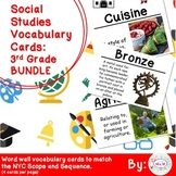 3rd Grade Social Studies Vocabulary Cards: All Year BUNDLE