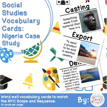 Social studies vocabulary with definition teaching resources 3rd grade social studies vocabulary cards nigeria case study fandeluxe Image collections