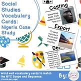 3rd Grade Social Studies Vocabulary Cards: Nigeria Case Study