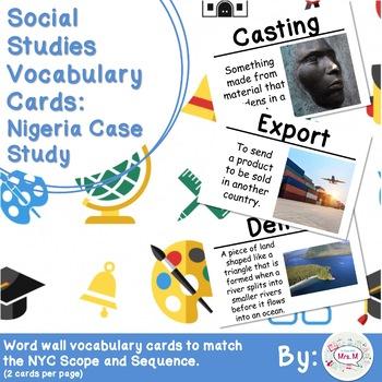 3rd Grade Social Studies Vocabulary Cards: Nigeria Case Study (Large)