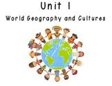 3rd Grade Social Studies Vocabulary Cards: Unit 1-World Ge
