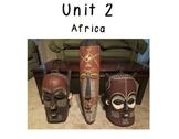 3rd Grade Social Studies Vocabulary Cards: Unit 2-AFRICA