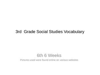 3rd Grade Social Studies Vocabulary Digital Word Wall 6