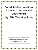3rd Grade Social Studies questions-Government