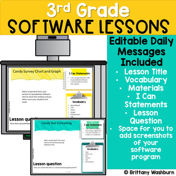 3rd Grade Software Lessons Weeks 13-24 | Computer Lab