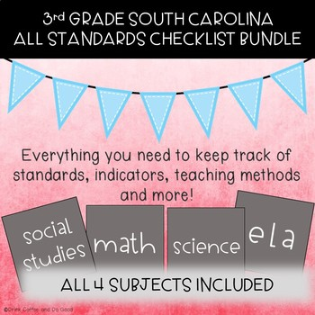 3rd Grade South Carolina - All Subjects - Standards Checklists
