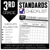 3rd Grade South Carolina Standards Checklists