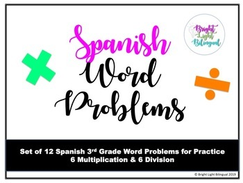 3rd Grade Spanish Word Problems - Multiplication and Division