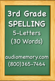 3rd Grade Spelling (30 Words) 5-Letter Words