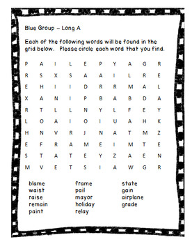 3rd Grade Spelling- 5 units/weeks -3 Different Levels - Long Vowels