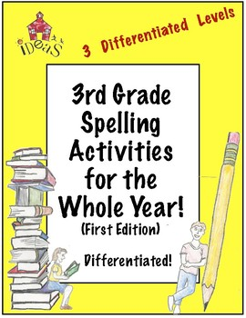 3rd Grade Spelling Activities For the Whole Year! (Differe