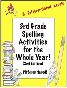 3rd Grade Spelling Activities For the Whole Year! Differentiated! (2nd Edition)