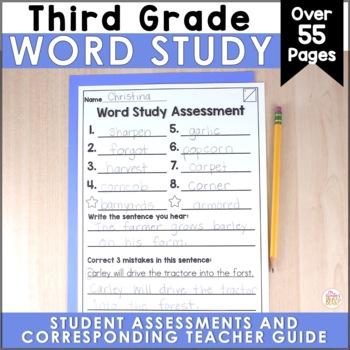 3rd Grade Spelling Assessments EDITABLE
