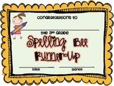 3rd Grade Spelling Bee Certificates