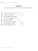 3rd Grade Spelling Lists #4-12