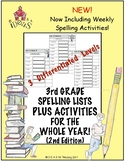 3rd Grade Spelling Lists PLUS Activities for the Whole Year! (2nd Edition)