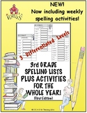 3rd Grade Spelling Lists PLUS Activities for the Whole Yea