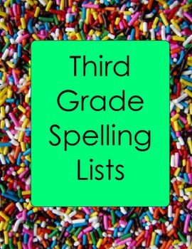 3rd Grade Spelling Lists and Practice Worksheets Plurals V