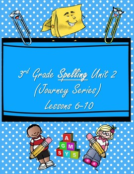 3rd Grade Spelling Practice Reading Series Lessons 6-10