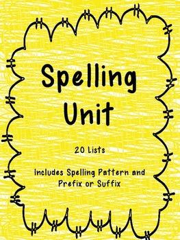 3rd Grade Spelling Unit