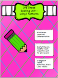 3rd Grade Spelling Unit Long I Patterns- 3 Different Level