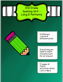 3/4 Grade Spelling Unit Long O Patterns- 3 Different Level