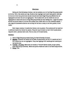 3rd Grade Spelling and Word Study Program