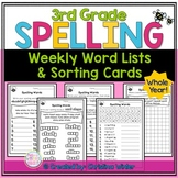 3rd Grade Spelling Lists EDITABLE
