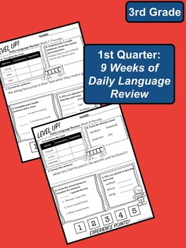 3rd Grade Daily Language Review: 1st Quarter, Weeks 1-9