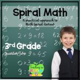 3rd Grade Spiral Math Homework and Quizzes -- Quarter TWO