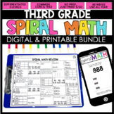 3rd Grade Math Spiral Review  | 3rd Grade Homework | Dista