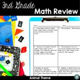 3rd Grade Spiral Math Review Wildlife 4