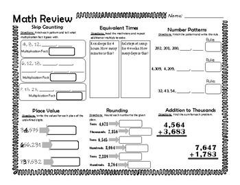3rd Grade Spiral Review