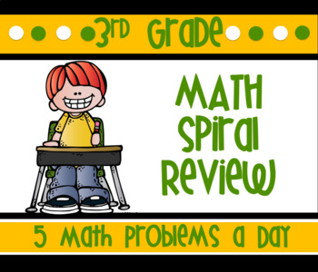 3rd Grade Spiral Review: Geometry, Add, Subtraction, Multi