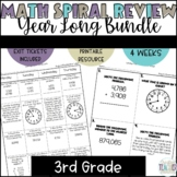 3rd Grade Spiral Review Homework-Math Year Long Bundle
