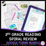 3rd Grade Spiral Review Year Long Bundle - Google Forms fo
